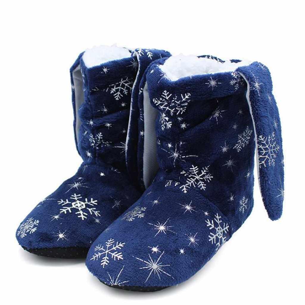 Kış Batos Ev Sevimli Kış Kar Tanesi Peluş Ayakkabı günlük çizmeler