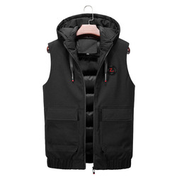 Mens Sleeveless Jackets Vest North Winter Warm Down Vest Casual Thicken Waistcoat High Quality Fabric Face Plus Size Coats