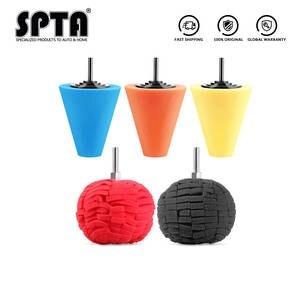 SPTA Cone Polishing-Sponge Burnishing-Ball Auto-Wheel Electric-Drill 3inch/4inch Car-Hub