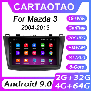 4G+64G Android 9.0 Car DVD Player For Mazda 3 2004 2005 2006-2013 Car Radio GPS Navigation WIFI RDS IPS Multimedia Player 2din