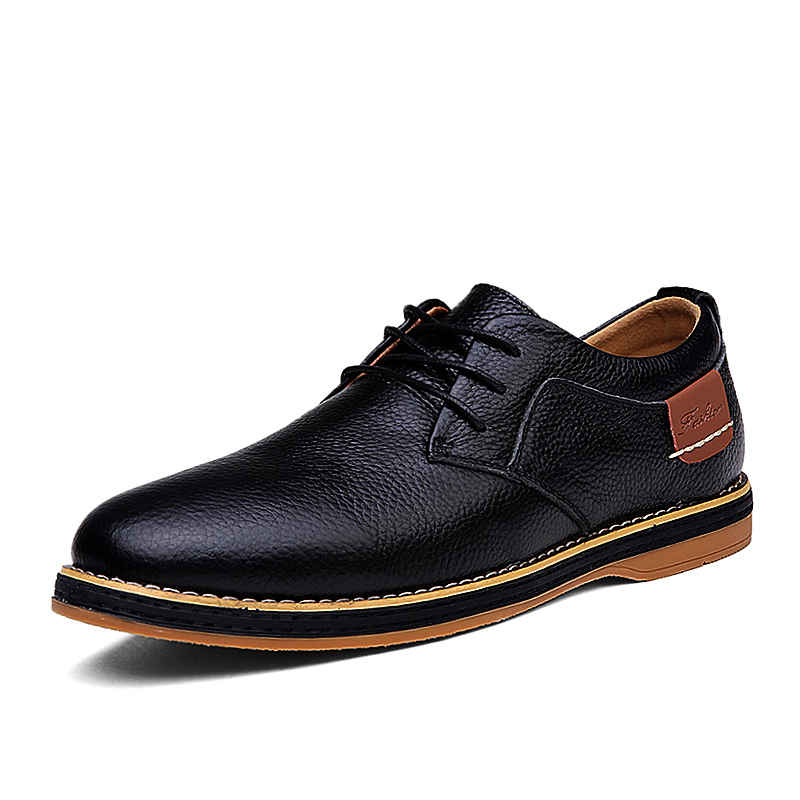 Classic Men Shoes Leather Comfortable Mcasual Leather Shoes Men Formal Casual Shoes Men Work  Lightweight Wear-resistant Rubber