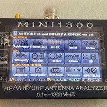"""HF/VHF/UHF Mini1300 4,"""" сенсорный ЖК-дисплей 0,1-1300 МГц 13.GHz ANT SWR антенна анализатор метр+ аккумулятор Обновление от Mini600"""