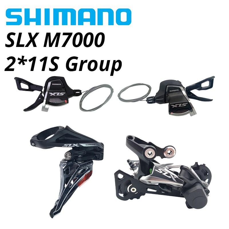 SHIMANO DEORE SLX M7000 11s Group 2*11s SL рычаг переключения передач правая левая пара 11v RD M7000 GS задний переключатель FD M7020 передний переключатель|Велосипедный переключатель|   | АлиЭкспресс