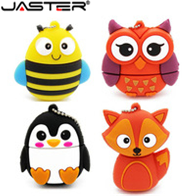 JASTER HOT! Cute Mini Cartoon Penguin Owl Pen Drive Usb Flash Drive Pendrive 4 GB/8 GB/16 GB/32 GB Usb Stick