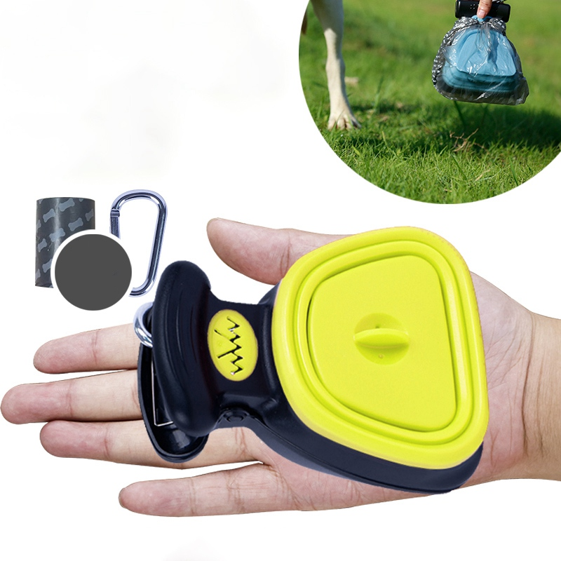 Dog Pet Foldable Pooper Scooper With 1 Roll Decomposable Bags Travel Poop Scoop Clean Pick Up Excreta Cleaner Supplies