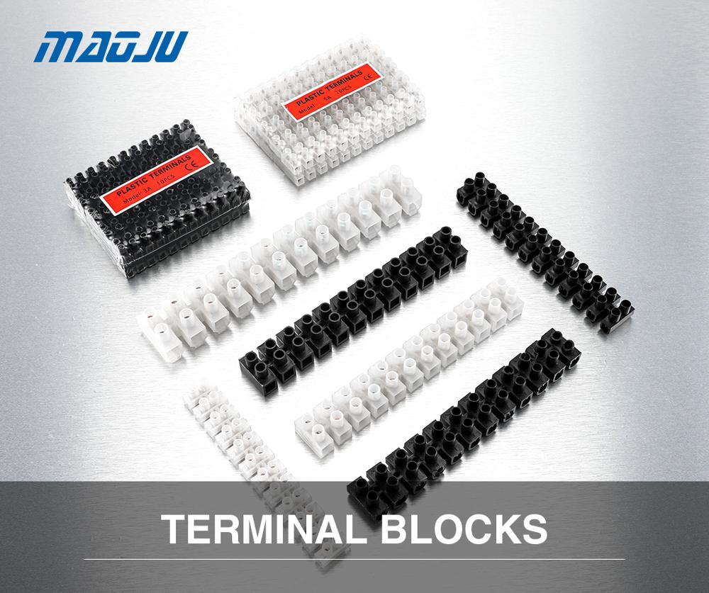 Wire connector Screw terminal 3A 5A 10A Dual Row 12 Positions Barrier Strip Block Terminal Plastic Electrical connector terminal|Terminals| - AliExpress