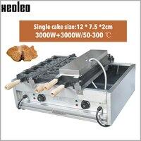 XEOLEO 전기 Taiyaki 기계 물고기 모양 와플 메이커 10pcs 케이크 기계 2 접시 와플 기계 온도 제어 3000W