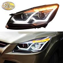 цена на SNCN Car Styling LED Headlight For Ford Kuga Escape 2013 2014 2015 LED DRL Turn Signal Light Head Lamp Assembly Upgrade