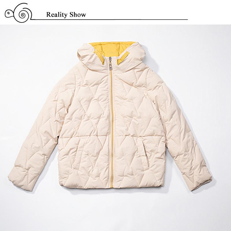 2019 Winter New Short Jacket Women Standing Collar Female Hooded Coat_A2_3