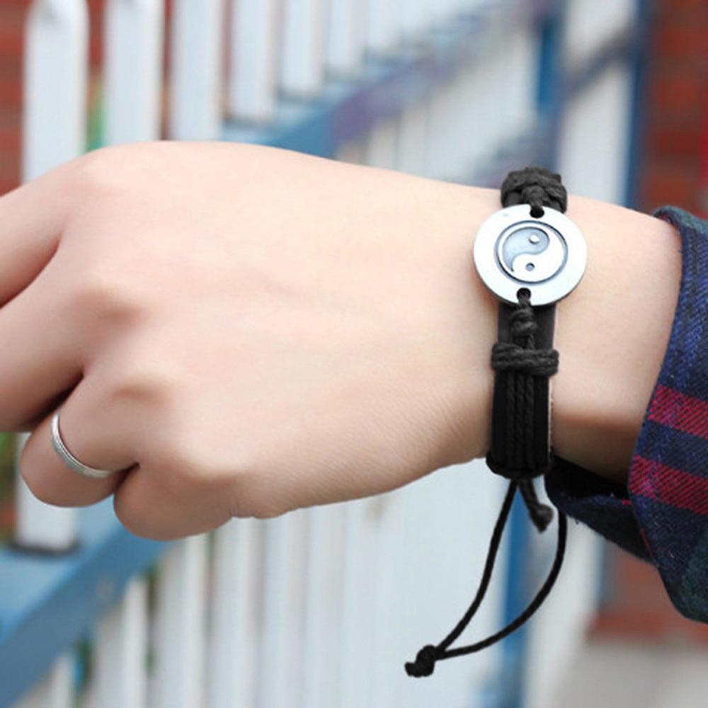 2020 Multilayer Bracelet Men Casual Fashion Braided Leather Bracelets For Women Wood Bead Bracelet Punk Rock Men Gifts Jewelry