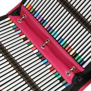 Image 4 - 216 Hole School Pencil Case Pu Spiral Folding Detachable Pencil Case Large Multi Function Sketch Pencil Bag