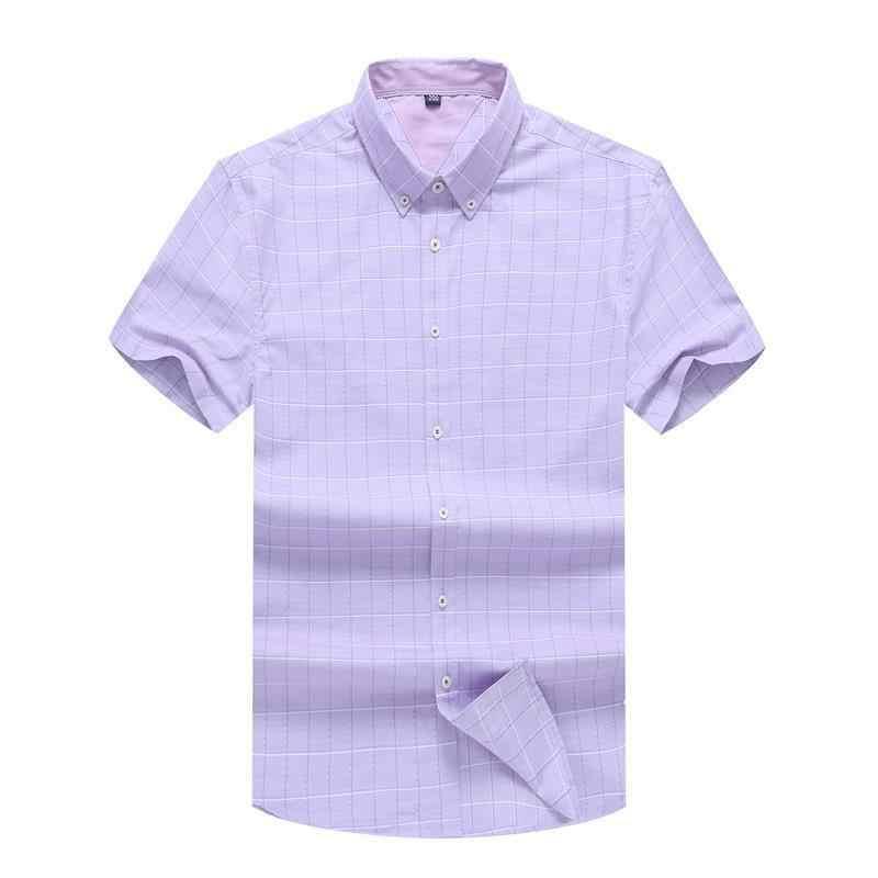 Plus größe 8XL 7XL feste beiläufige Hemd Männer social kleid Shirts NEUE Sommer Chemise Homme Herren kurzarm shirt hochwertige