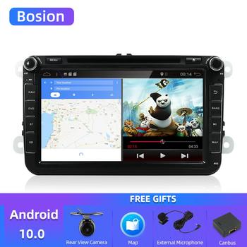 autoradio 2 din car dvd vw navigation for Volkswagen GOLF 4 GOLF 5 6 POLO PASSATCC JETTA TIGUAN TOURAN SCIROCCO T5 with GPS image