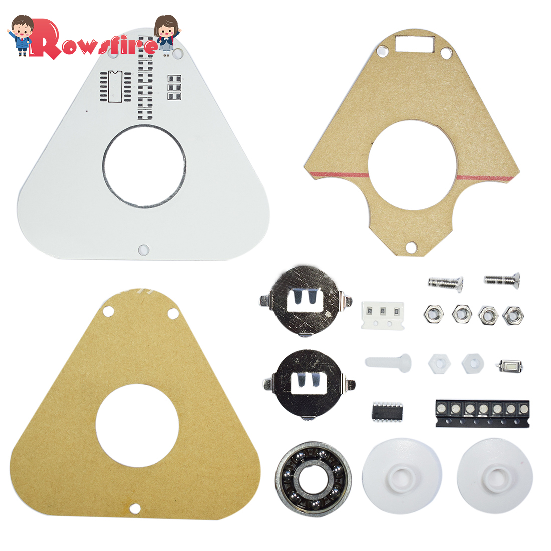 DIY Round Triangle LED Palm-Top POV Rotation SMD Learning Kit