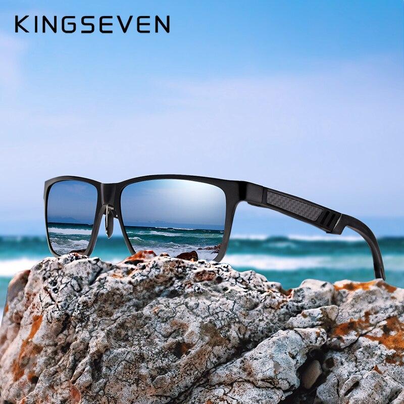 KINGSEVEN Brand Men's Glasses Square Polarized Sunglasses UV400 Lens Eyewear Accessories Male Sun Glasses For Men/Women