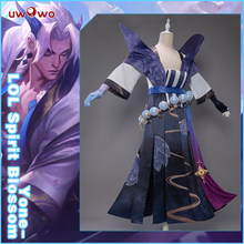 UWOWO – Costume de Cosplay de la ligue des légendes, Costume d'halloween, Yone Spirit bloom LOL, tendance