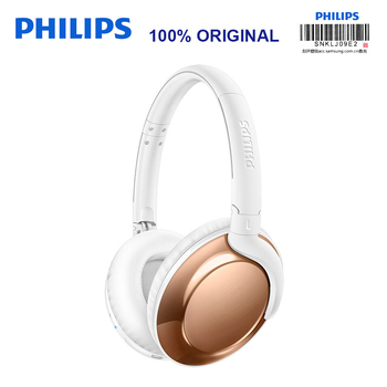 Original Philips SHB4805 Wireless headphone With mic Foldable Adaptive Noise Canceling Stereo Bass for S8 S9 Note8