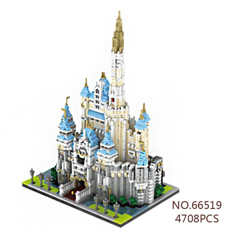 Creator Hot world famous city Funland micro diamond building block Castle assemble model nano bricks toys collection gifts