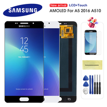 AMOLED LCD For Samsung Galaxy A5 2016 A510 A510F A510M A510FD A5100 A510Y LCD Display Touch Screen Digitizer Assembly a510f display for samsung galaxy a5 2016 a5100 a510 a510f a510m sm a510f display touch screen digitizer assembly a510 lcd repair