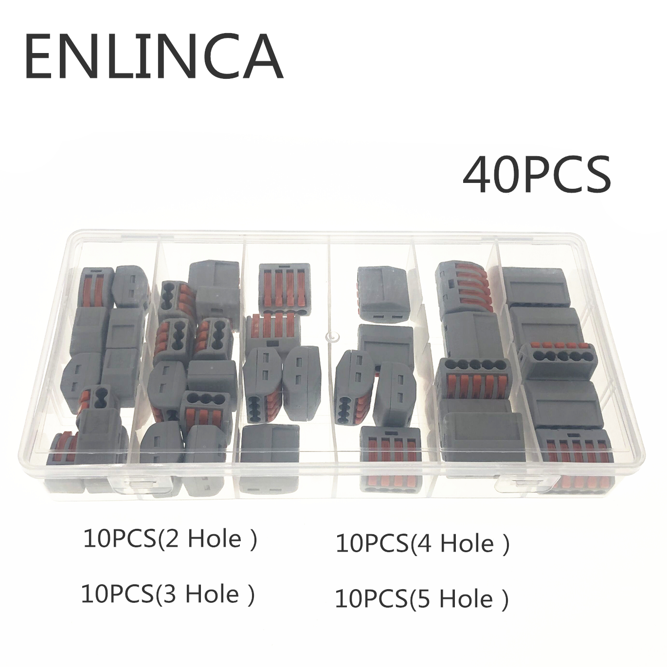 60pcs/set Terminal Block Spring Lever Nut Terminal Blocks Reusable Electric Cable Connector Wire Home Tools Of Insulating