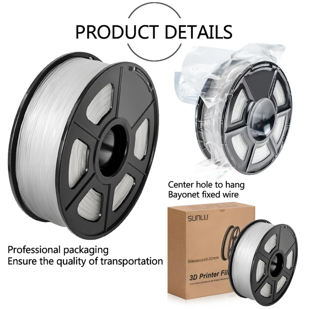 Купить нить pla sunlu 1 кг 175 мм/3 мм для 3d печати с допуском 002