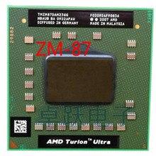 AMD מחשב נייד מעבד מעבד AMD Turion x2 Ultra ZM 87 ZM87 ZM 87 TMZM87DAM23GG 2.4GHz Socket S1 משלוח חינם