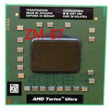 Processador para laptop amd, cpu amd turion x2 ultra ZM-87 zm87 zm 87 pro, soquete s1 de 2.4ghz com frete grátis