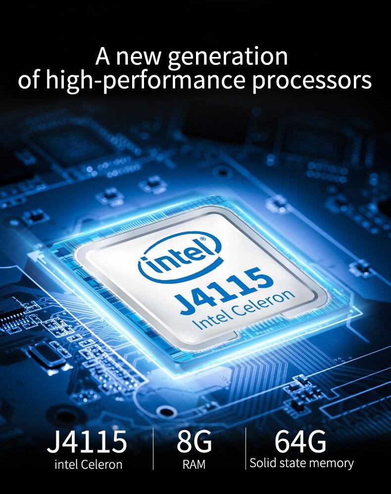 Портативный мини-ПК Windows 10 HTPC Intel Celeron N4100 4-ядерный WiFi Bluetooth 4,2 0 4K 60 Гц LPDDR4 Micro компьютер Type-C TV Box   Компьютеры и офис   АлиЭкспресс