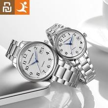 Светодиодный светильник Youpin, элегантные механические часы с искусственным сапфировым кристаллом