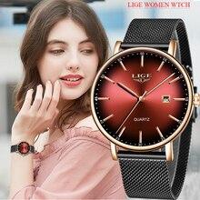 LIGE Brand Luxury Women Watches Fashion