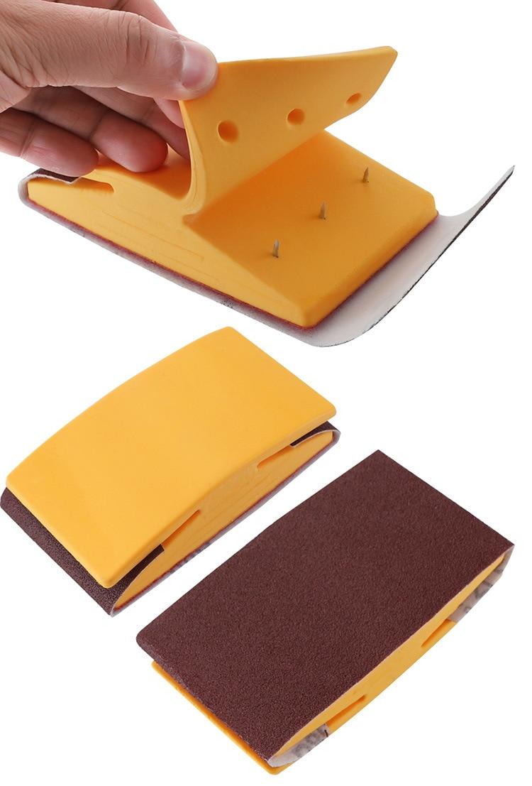 5/6 Inch Sanding Disc Holder Sandpaper Backing Polishing Pad Hand Grinding Block PU Foam Sanding Disc Polishing Tools
