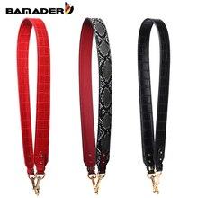 BAMADER Wide Shoulder Strap High Quality Bag Snake?Crocodile Pattern New Fashion Genuine Leather Accessorie