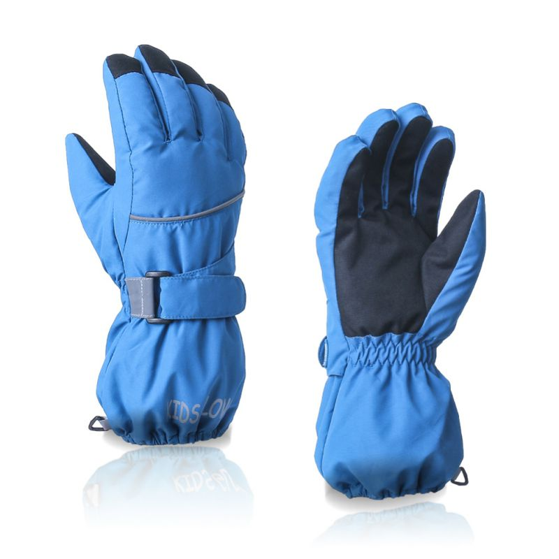 Boys Girls Winter Warm Ski Gloves Sport Waterproof Windproof Non-slip Mitten Adjustable Children Protection Gloves NEW!