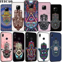 IYICAO Hamsa Hand Amulet Psychedelische Art Zachte Siliconen Telefoon Case voor Huawei Mate 30 20 10 Pro Nova 5i 4 3 3i 2i 2 Lite Cover(China)