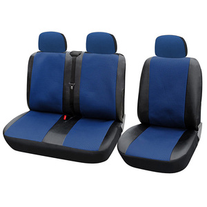 1+2 Seat Covers Car Seat Cover for Transporter/Van Universal Fit with Artificial Leather Truck Interior Accessories Blue 3pcs
