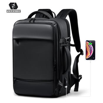 Fenruien 2020 Backpack Men 17.3 Inch Laptop Backpacks Expandable Large Capacity Travel Backpacking USB Charging Waterproof Bag fenruien brand 17 inch laptop backpack men usb charging travel backpacking school bag nylon waterproof anti theft backpacks