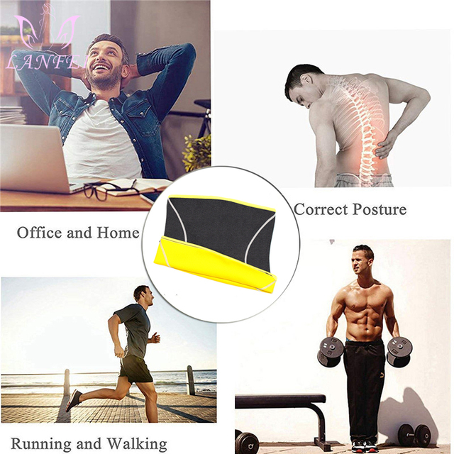 LANFEI Men Waist Trainer Belts Sauna Slimming Body Shapers Girdle Neoprene Workout Sweat Belly Trimmer Corset for Weight Loss 4