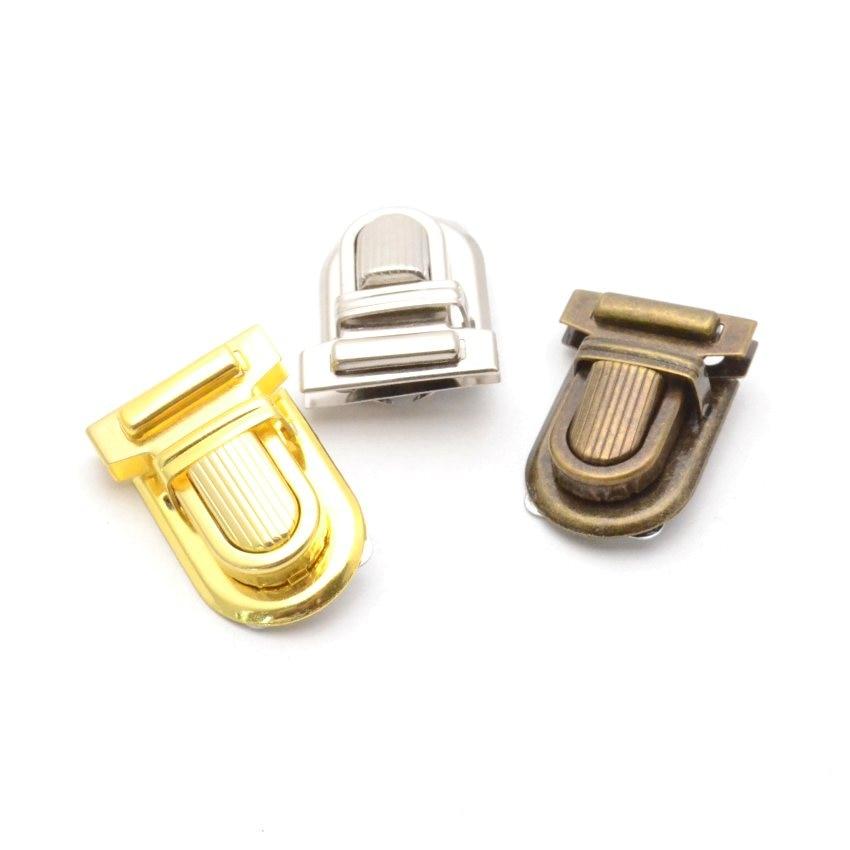 Heavy duty Alloy Clasp Tongue Lock Bag Hangbag Purse Buckle Hardware Accessories