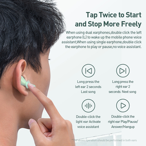 Image 5 - Baseus W09 TWS Wireless Earphone Bluetooth 5.0 Headphone Mini Earbuds With Charging Box Stereo Sports True Wireless Headset Sale
