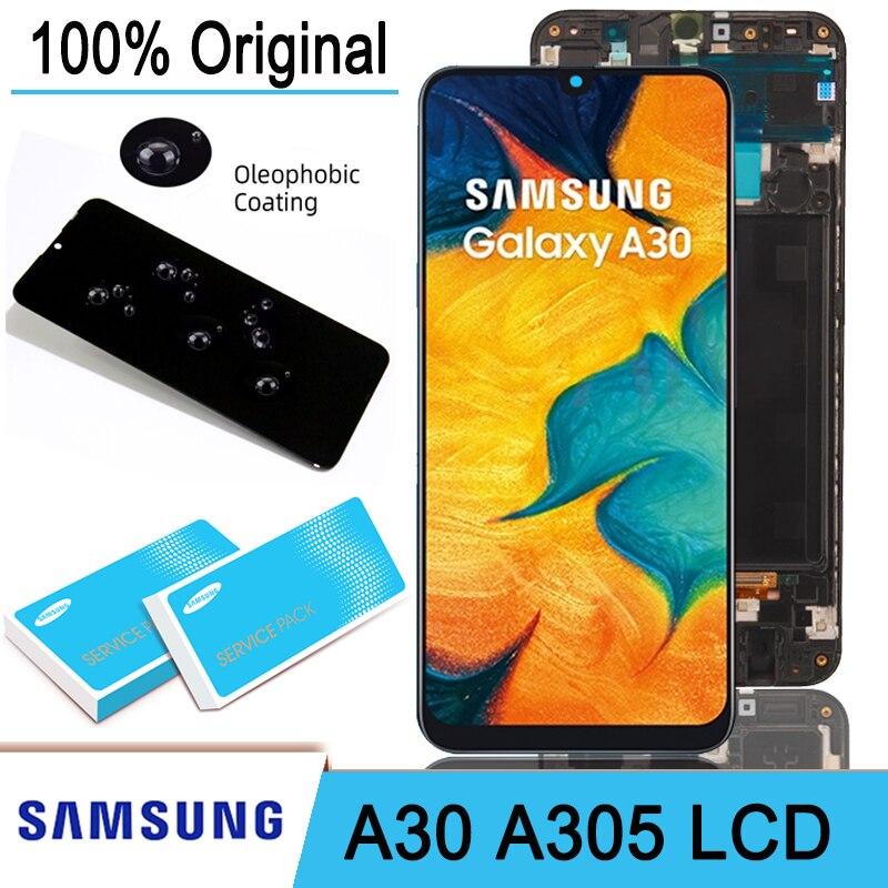 Оригинальный ЖК-дисплей 6,4 дюйма с сенсорным экраном дигитайзер в сборе для Samsung Galaxy A30 A305/DS A305F A305FD A305A запасные части