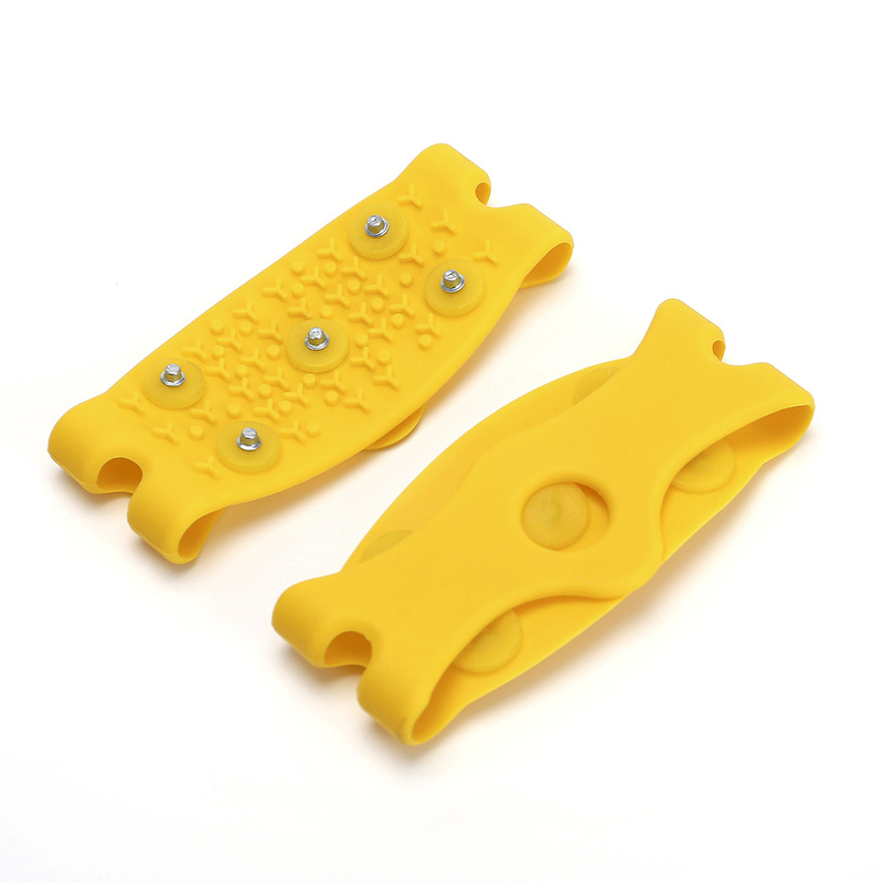 Image 3 - 1 pair 5 Stud Snow Ice claw Climbing Anti Slip Spikes Grips Crampon Cleats Shoes Cover for women men Boots Cover size 35 43-in Insoles from Sports & Entertainment
