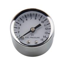 דלק מד לחץ נוזל 0 15 psi שמן עיתונות מד דלק מד לבן פנים אוניברסלי 1/8 NPT