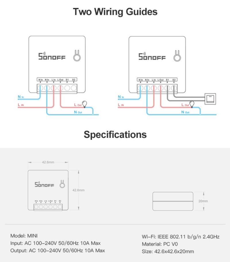 Mini Two Way Smart Switch