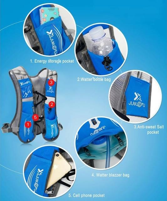 Nylon vest running backpack sports