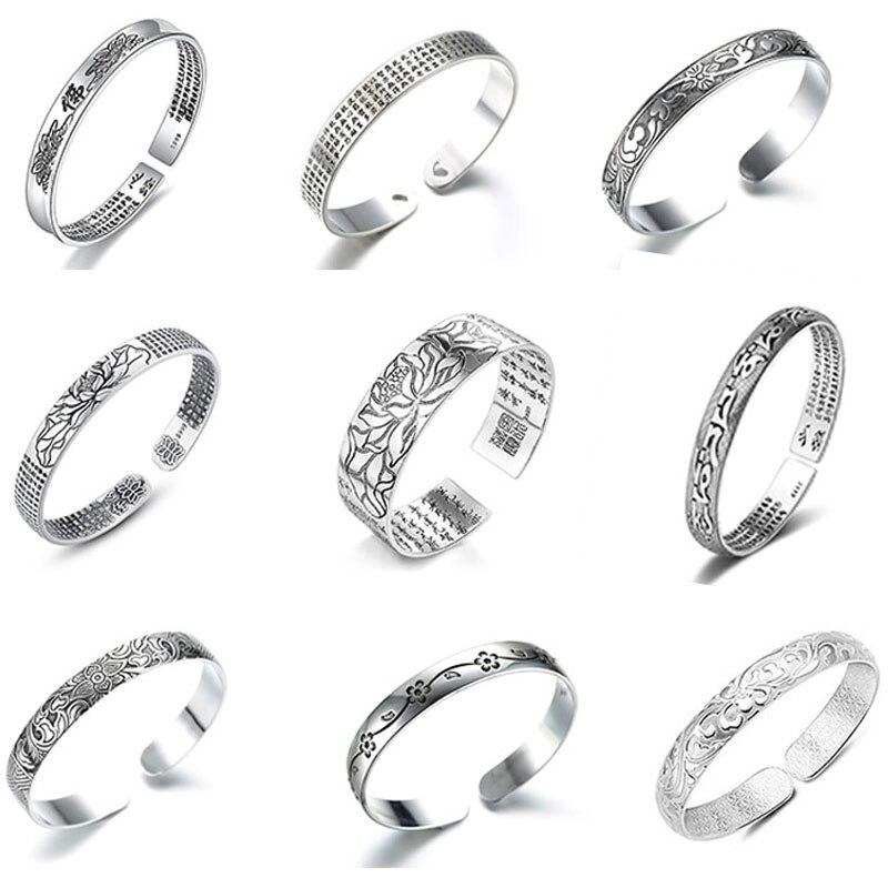 XIYANIKE New Fashion 925 Sterling Silver Party Bangles & Bracelet For Women Vintage Simple Handmade Bracelets Jewelry Adjustable