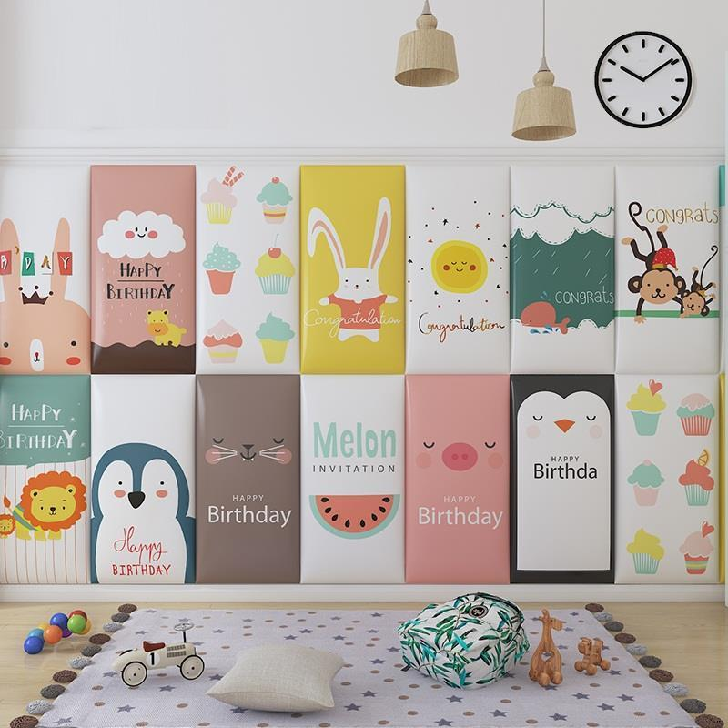 A Coucher Cabezal Testiera Cojin Testata Letto Child 3D Wall Sticker Tete Lit Bed Cabeceira Cabecero Cama De Pared Head Board