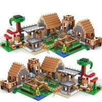 838pcs Castle Village Series mysters My World Ghost Village Building Blocks Bricks Toys For Children gifts