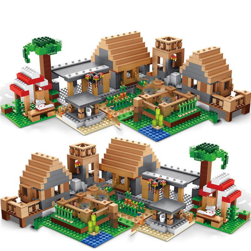 838pcs Castle Village Series mysters My World Ghost Village Building Blocks Bricks Toys For Children gifts