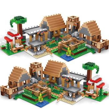 Castle Village Series mysters My World Ghost Village Building Blocks Bricks Toys For Children gifts 342pcs my world series tree house in island model building blocks compatible legoed minecrafted village brick toys for children
