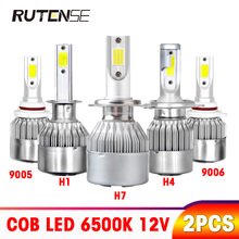 2X C6 car headlight bulb led H4 H7 H11 9005 HB3 9006 HB4 9012 H1 H3 880 H8 H9 9004 9007 H13 Car Accessories 12V 72W 8000LM 6500k 2x f2 csp cob car led headlamp auto headlight bulbs lamp h3 h4 h7 h8 h13 h27 880 9004 9005 9006 900 led 4800lm 6500k 4300k 3000k